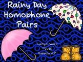 Rainy Day Homophones Pairs