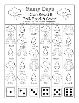Rainy Day - I Can Read It! Roll, Read, and Cover (Lesson 28)