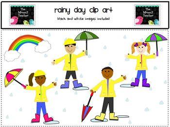 Clip Art - Rainy Day Kids ClipArt