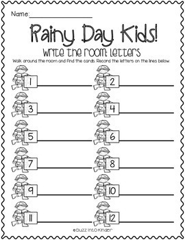Rainy Day Kids: Write the Rooms