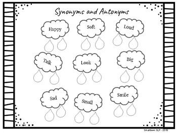 Rainy Day Language - NO PREP FREEBIE