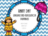 Rainy Day Language and Articulation Printables