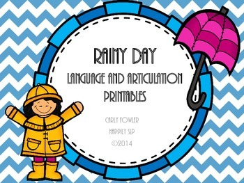 #mar17slpmusthave Rainy Day Language and Articulation Printables