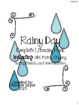 Weather & Rain - Literacy Activities/Centers Activities