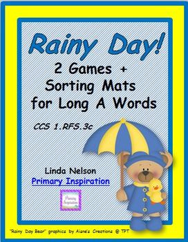 Rainy Day Long A Games and Sorting Mats