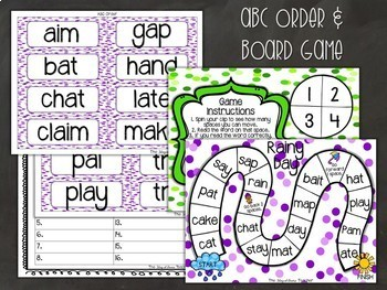 Long A and Short A Phonics Centers