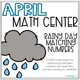 Rainy Day Matching Numbers 0-20 Ten Frame Kindergarten Apr