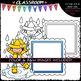 Rainy Day Message Boards - Clip Art & B&W Set