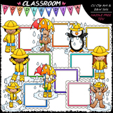 Rainy Day Message Boards - Clip Art & B&W Set