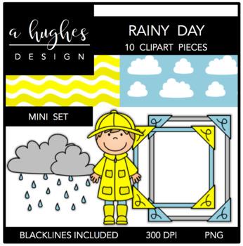 Rainy Day Mini Clipart Bundle {A Hughes Design}