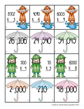 Rainy Day Multiplication