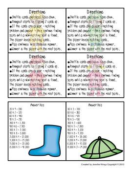 Rainy Day Multiplication Memory