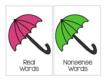 Rainy Day Nonsense Word Sort