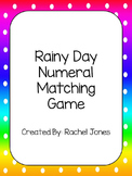 Rainy Day Numeral/Number Word Match Game