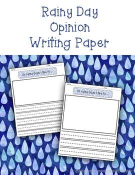 Rainy Day Opinion Writing Paper