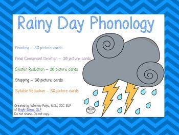 Rainy Day Phonology Unit