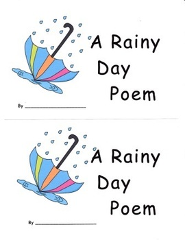 Rainy Day Poem Spring Emergent Reader