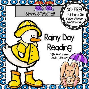 Rainy Day Reading:  NO PREP Sight Word Game