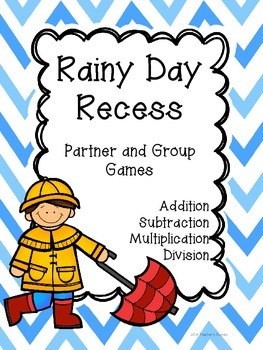 Rainy Day Recess Races - Addition, Subtraction, Multiplication & Division Games