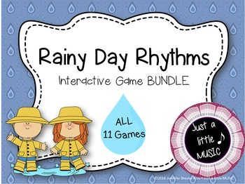Rainy Day Rhythms--Reading Practice Interactive BUNDLE of 11 Games