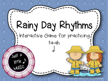 Rainy Day Rhythms--Reading Practice Interactive Game {ta-ah}