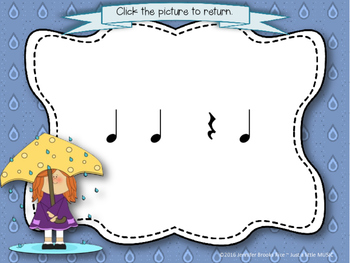 Rainy Day Rhythms--Reading Practice Interactive Game {ta rest}