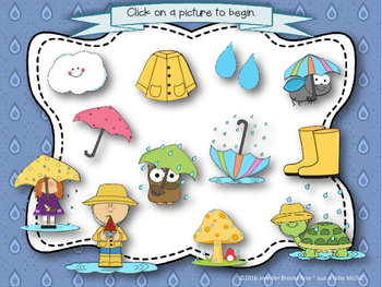 Rainy Day Rhythms--Reading Practice Interactive Game {ta titi}