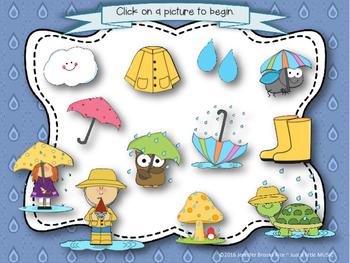 Rainy Day Rhythms--Reading Practice Interactive Game {tika ti}