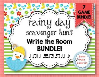 Rainy Day Scavenger Hunt: Rhythm Write the Room 7 GAME BUNDLE!