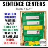 Sentence Building Rainy Spring Weather
