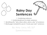 Rainy Day Sentences (Black and White, No Prep)