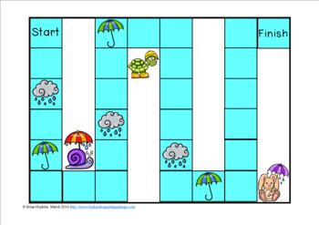Rainy Day Sight Word Fluency Phrases Race