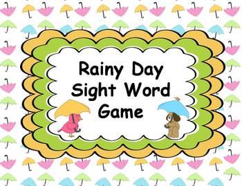Rainy Day Sight Word Game {FREEBIE}