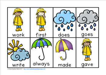 Rainy Day Sight Word Race