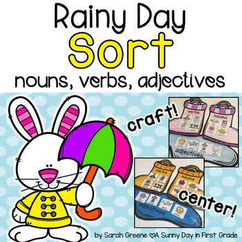 Rainy Day Sort {nouns, verbs, adjectives!}