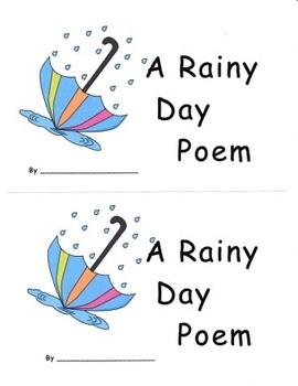 Spring Rainy Day Emergent Reader Set