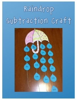 Rainy Day Subtraction Craft