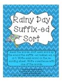Rainy Day Suffix -ed Sort