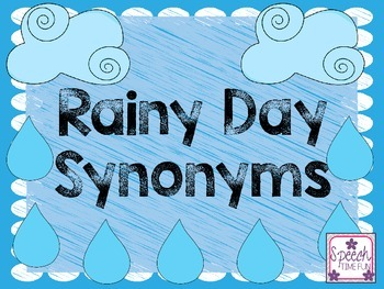 Rainy Day Synonyms FREEBIE