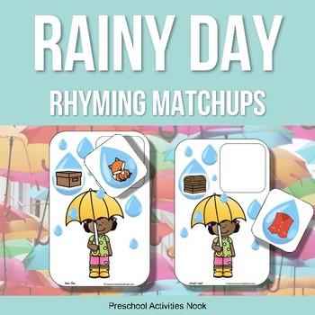Rainy Day Umbrella Rhyming Matchups