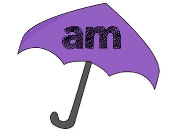 Rainy Day Word Family Match
