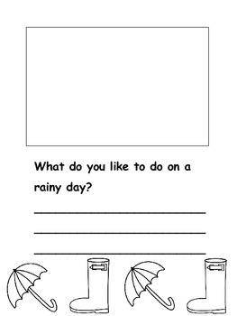 Rainy Day Writing - Kindergarten