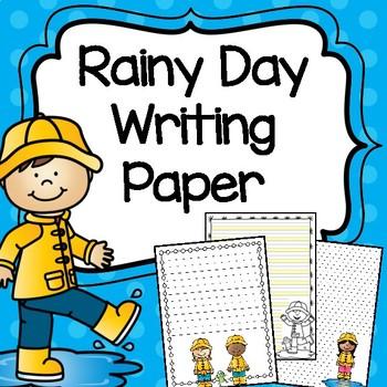 Rainy Day Writing Paper
