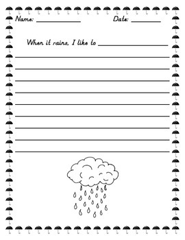 Rainy Day Writing Prompt