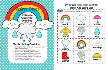 Rainy Days 2nd Grade Grammar Grab Bag #25