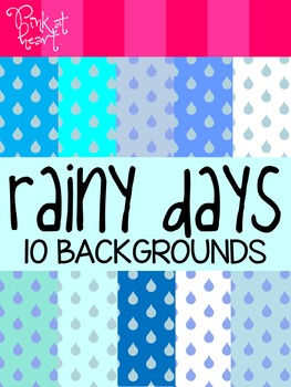 Rainy Days Digital Backgrounds