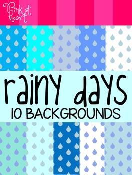 Rainy Days Digital Backgrounds