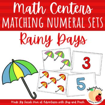 Rainy Days Matching Numeral Sets