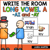 Long Vowel Teams A Write the Room AI, AY