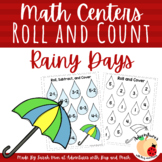 Rainy Days Roll and Cover Math Centers